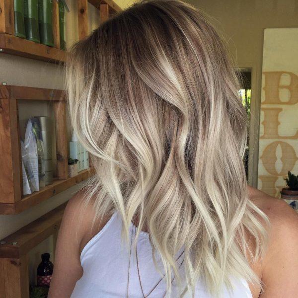 Балаяж на светлые волосы разной длины – техника выполнения окрашивания