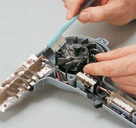 Ремонт фена для волос – причины и виды поломок, как разобрать и починить прибор