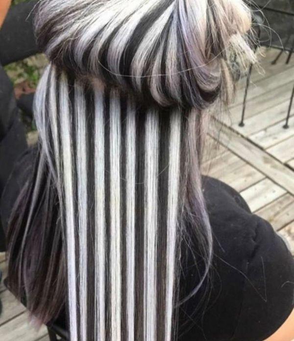 Окрашивание волос «зебра» – секреты техники и сочетания цветов, преимущества и недостатки