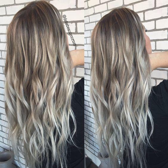 Балаяж пепельный на волосы разной длины – как выполнять окрашивание