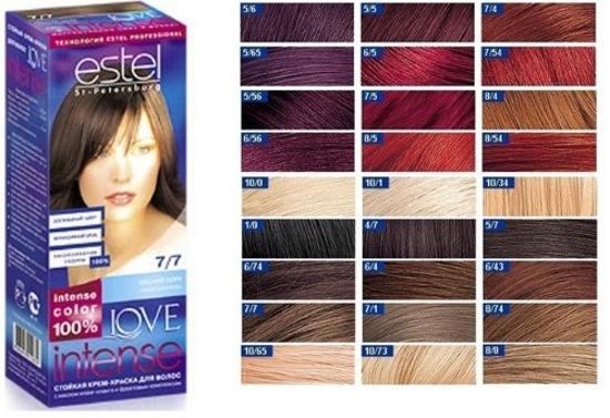 «Эстель» для седых волос – палитра краски и профессиональные советы окрашивания