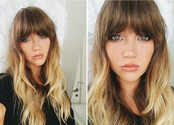 Омбре с прямой и косой челкой на волосах разной длины – правила окрашивания и выбор цвета