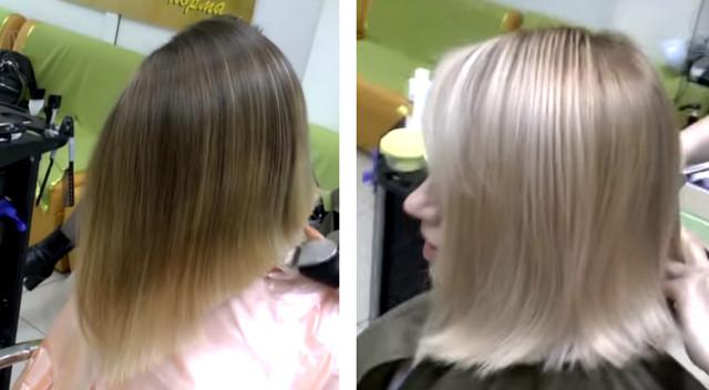 Как убрать желтизну после мелирования – почему волосы получаются желтыми