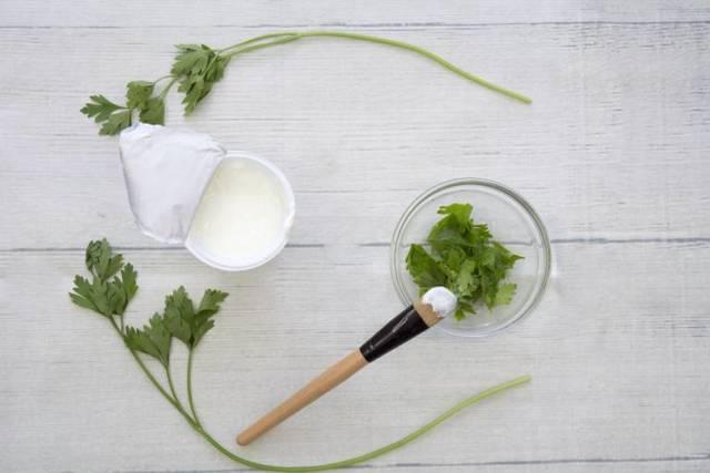 Маска из петрушки для лица – приготовление в домашних условиях с применением отвара и масла
